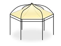 vente en ligne de bache tonnelle sur mesure pour tonnelle et gloriette bache tonnelle privilege. Black Bedroom Furniture Sets. Home Design Ideas